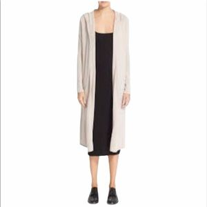 AUTUMN CASHMERE Long Hooded Duster Maxi Cardigan